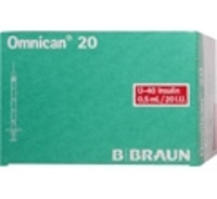OMNICAN Insulinspr.0,5 ml U40 m.Kan.0,30x8 mm