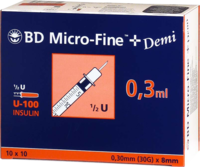 BD MICRO-FINE+ Insulinspr.0,3 ml U100 0,3x8 mm