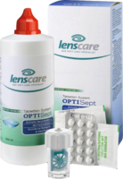 LENSCARE OptiSept Kombip.350 ml+45 Tabl.+1 Beh.